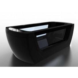 Vision Gruppo Treesse отдельностоящая ванна черная с вставками из стекла