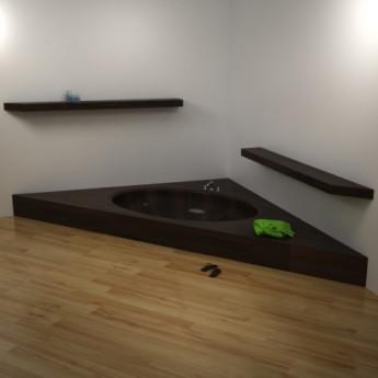 Ванна деревянная угловая Dimiao UWD