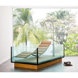 Water Lounge прямоугольная прозрачная ванна HOESCH