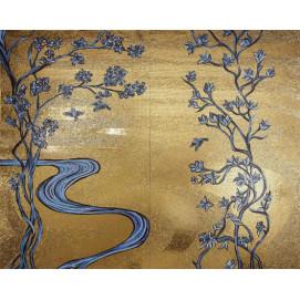OrienTale Sicis панно из мозаики и/или смальты на тему китайского рисунка (шелка) на заказ