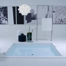BIBLIOXL Antonio Lupi большая прямоугольная ванна встраиваемая в подиум 180х160