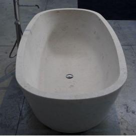 BAIA Antonio Lupi ванна овальной формы из минерального литья 185х90