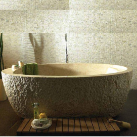NAGA ванна из камня с диким краем BATi Bali 2040 x 990 мм