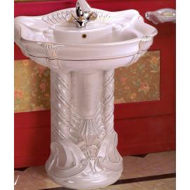 Majesty Ceramica Ala раковина напольная с пьедесталом в стиле рококо