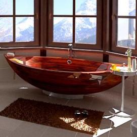 Bootes Ammonitum ванна из дерева лодочка