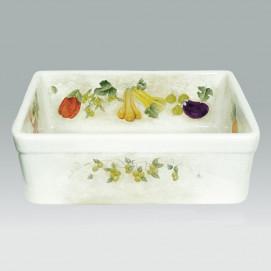 AP-1801 Vegetables кухонная мойка с декором Atlantis Porcelain Art