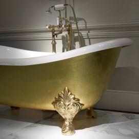 Mida Devon Devon ванна чугунная на ножках снаружи покрыта золотыми листами 24 карата