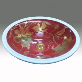 AP-1421 Crackle Damask Gold & Platinum раковина Atlantis Porcelain Art