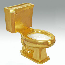 Full Burnished Gold унитаз покрытый матовым золотом Atlantis Porcelain Art
