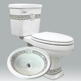 Scrolls with Initials унитаз с логотипом на заказ Atlantis Porcelain Art