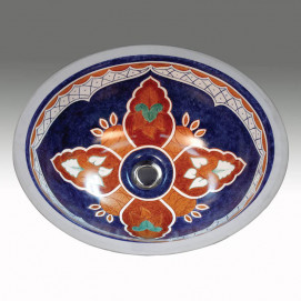 AP-1420 Talavera раковина с мексиканским рисунком Atlantis Porcelain Art
