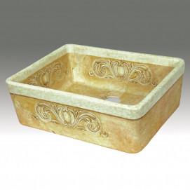AP-1801 Colossal Decorated кухонная мойка Atlantis Porcelain Art