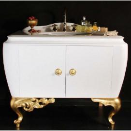 art. 2058 Linea Rinascimento Мебель для ванной из дерева Bianco Cristallino