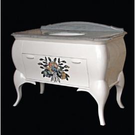 art. 2060 Linea Déco Мебель для ванной из дерева с инкрустацией из перламутра Bianco Cristallino