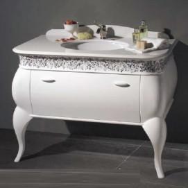 art. 2062 Linea Déco Мебель для ванной с мраморной столешницей Bianco Cristallino