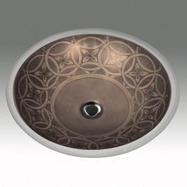 Andromeda раковина с классичесим орнаментом под бронзу Atlantis Porcelain Art