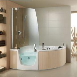 Armonya Teuco ванна угловая комбинированная с дверцей