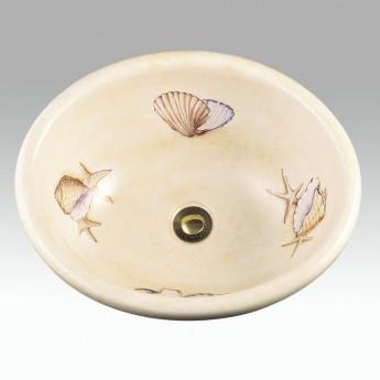 Shells раковина с рисунком ракушки Atlantis Porcelain Art