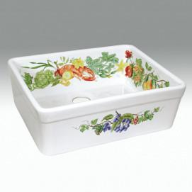 AP-1801 Gourmet кухонная мойка с декором Atlantis Porcelain Art