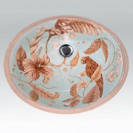Amazon раковина с декором амазонский лес Atlantis Porcelain Art