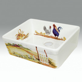 AP-1801 The Farm кухонная мойка с декором Atlantis Porcelain Art