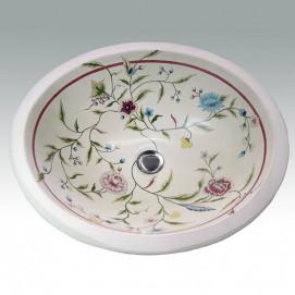 AP-1410 English Trellis раковина с декором Atlantis Porcelain Art