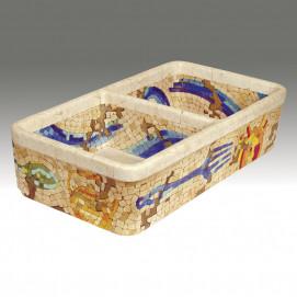 AP-1802 Pompeii Mosaics двойная кухонная мойка с декором Atlantis Porcelain Art