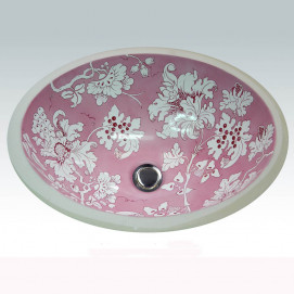 AP-1420 Pink Fiore Hand Painted раковина Atlantis Porcelain Art