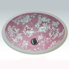 AP-1420 Pink Fiore Hand Painted раковина Atlantis Porcelain Art