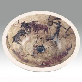 AP-1420 Rupestrian Hand Painted раковина Atlantis Porcelain Art
