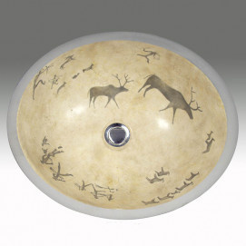 AP-1420 Lascaux Hand Painted раковина Atlantis Porcelain Art