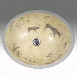 AP-1420 Lascaux Hand Painted раковина Atlantis Porcelain Art