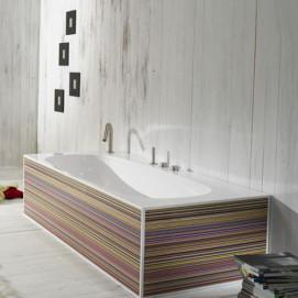 DV200 ванна AET овальная внутри, прямоугольная снаружи декорированная