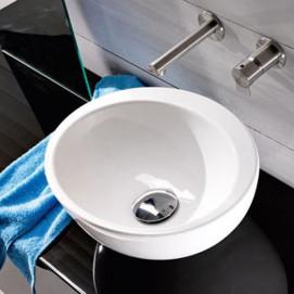 L232 SPOT RAFT ONE раковина накладная овальная 36х30см AET, без отверстия под смеситель, цвет белый или цветная с декором