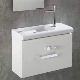 L021 L020 раковина 580мм подвесная/накладная мебельная левая или правая AET белая черная цветная