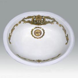 AP-1421 Antiquity Gold Gold & Platinum раковина Atlantis Porcelain Art