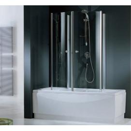 AURORA470-1A Шторка на ванну AURORA 4; 70*150 профиль-White, стекло-Clear Novellini