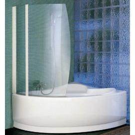 AURORA8-1A Шторка на ванну BAY 98*150 профиль-White, стекло-Clear Novellini