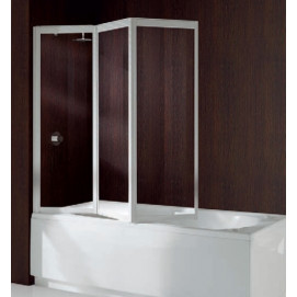 AURORA93V-1A Шторка на ванну AURORA 9; 138*138 профиль-White, стекло-Clear Novellini