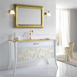 Amelie 003 Nea комплект белой мебели для ванной с золотом