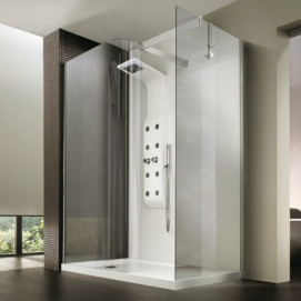5927 Glass Shower - Box in acciaio con piatto B-Zone душевая кабина Blu Bleu