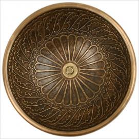 B005 B026 раковина круглая бронза с фактурным орнаментом Wing Linkasink