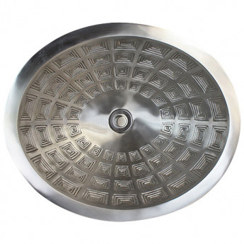 Oval Pantheon Linkasink овальная раковина из бронзы с фактурой кессоны купить в наличии в Москве