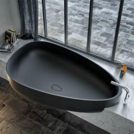 Beyond Glass1989 ванна из минерального литья асимметричная на постаменте 185x109