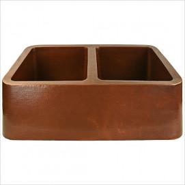C040 мойка для кухни из бронзы двойная Double Bowl FarmHouse Linkasink