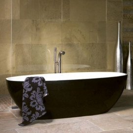 Barcelona Victoria+Albert ванна свободностоящая овальная 179х87 черно-белая