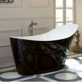 Amalfi Victoria Albert ванна черная
