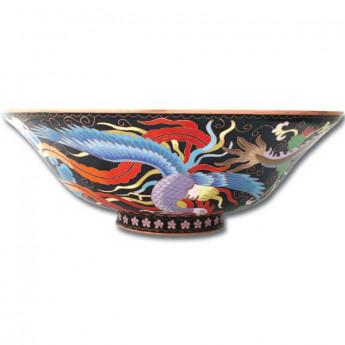 Раковина круглая с рисунком китайский дракон (перегородчатая эмаль) Dragon Linkasink купить в наличии