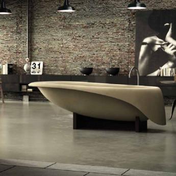 Concrete Soft отдельностоящая овальная ванна из минерального литья (материал похожий на цветной бетон) Glass1989