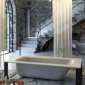 Concrete Bath отдельностоящая прямоугольная ванна из минерального литья (материал похожий на цветной бетон) Glass1989